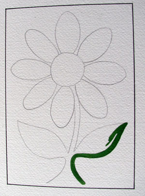Line Painting Flower - Paint like Geoff Slater