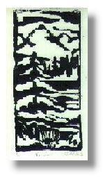 Lino block print