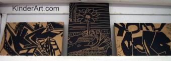Lino block printmaking
