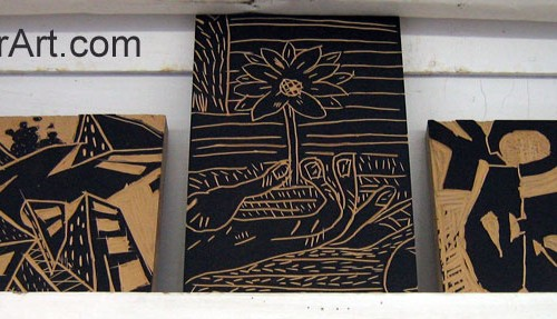 How To Make A Lino Or Linoleum Block Print Printmaking Lessons For Kids Kinderart
