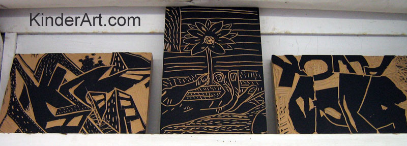 Lino block printmaking