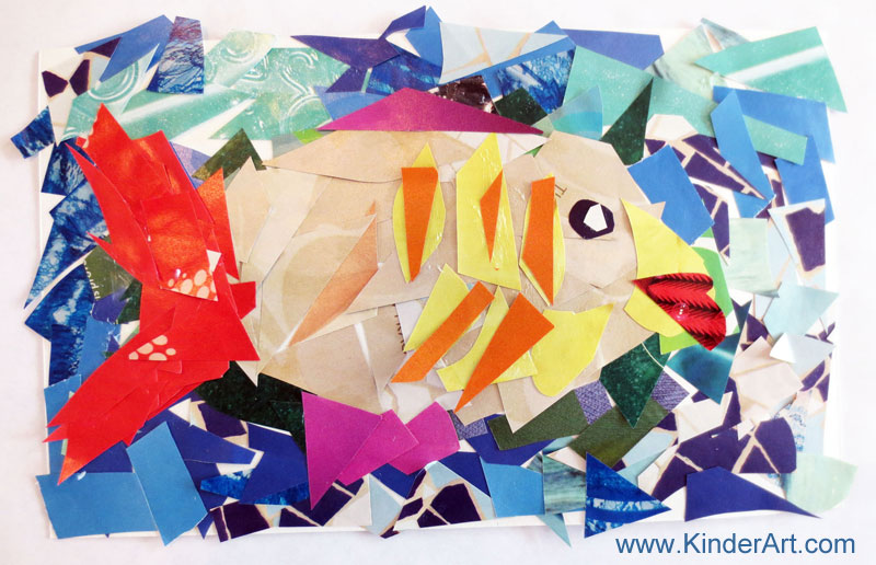 magazine mosaics lesson plan recycling for kids art on a