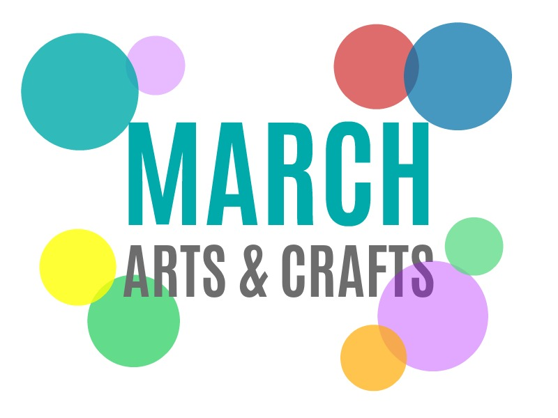 March Arts, Crafts and Activities for Kids from KinderArt.com