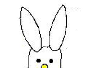 Marshmallow bunny craft. KinderArt.com
