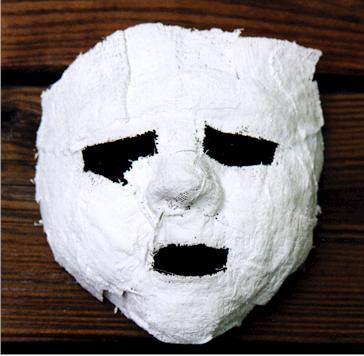 How to make a plaster mask.