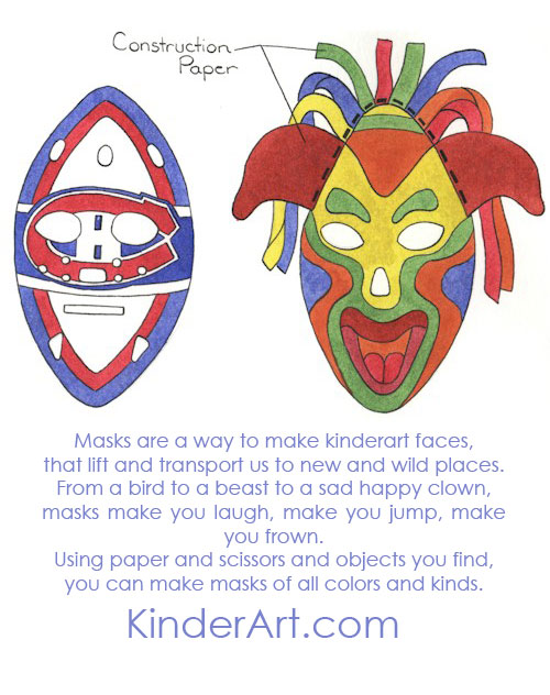 colorful paper masks  multicultural art and craft lessons