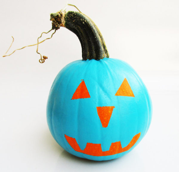 Teal pumpkin. KinderArt.com
