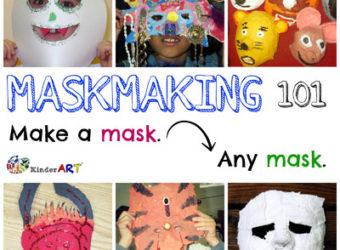 Maskmaking 101. KinderArt.com
