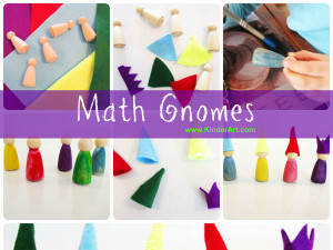 Make Waldorf Math Gnomes - Plus, Minus, Times, Divide and King Equal.