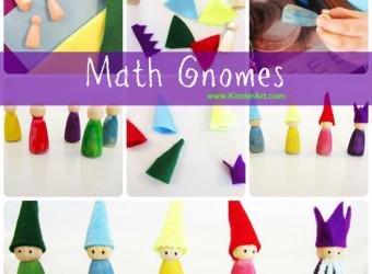 Make Waldorf Math Gnomes - Plus, Minus, Times, Divide and King Equal.