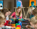 Middle school art lessons. Arts and crafts for grades 6-8, ages 11-14yrs.