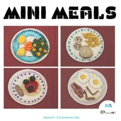 Mini Meals made of Clay art lesson