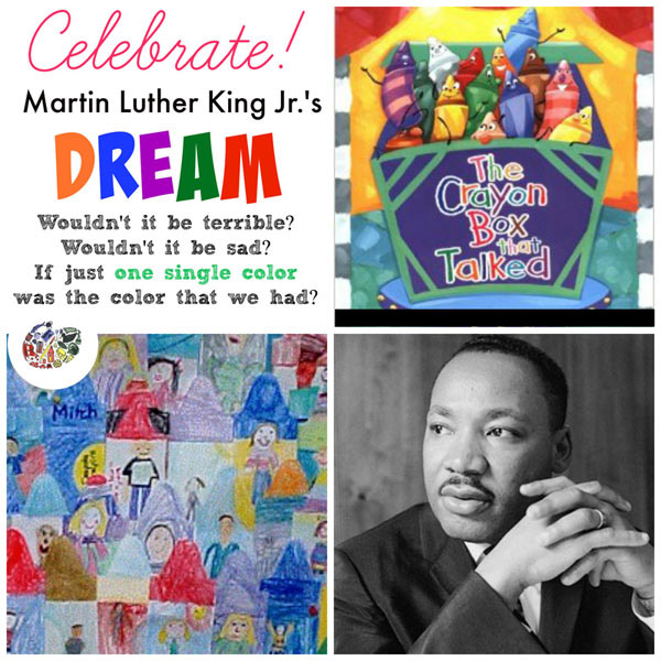 A box of crayons for Martin Luther King Jr. Day