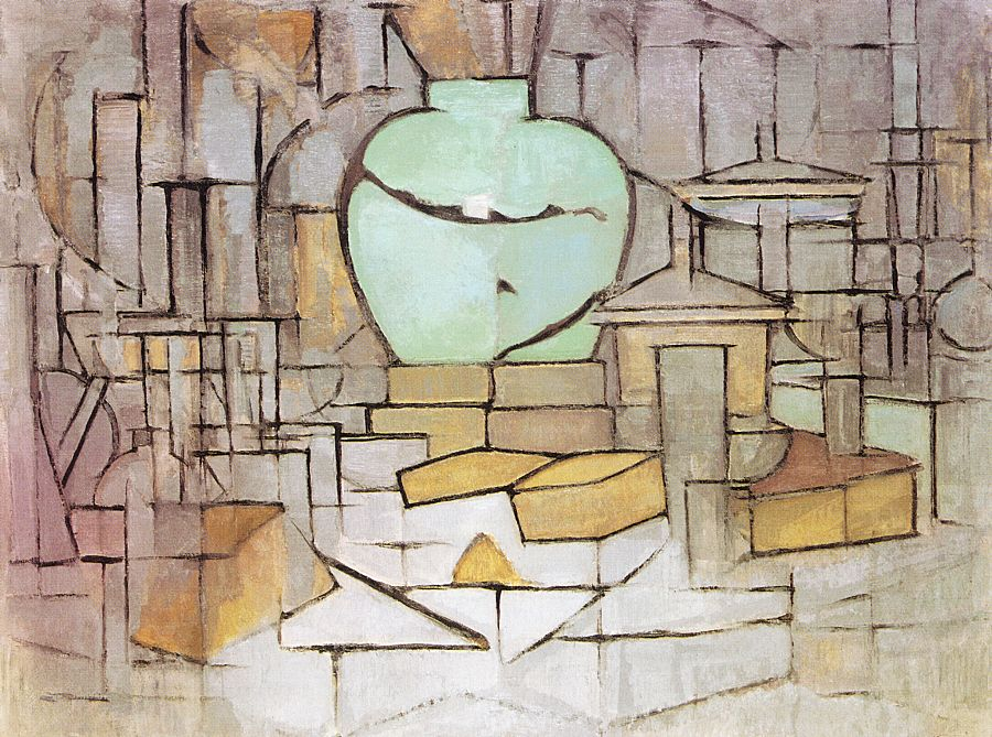 Mondrian Still Life with Ginger Pot, 1912 oil on canvas Haags Gemeentemuseum, The Hague, Netherlands