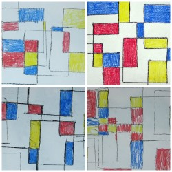 Mondrian Inspired Abstract Art - student work
