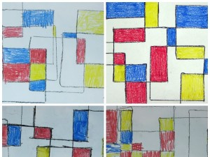 Mondrian Inspired Abstract Art - student work