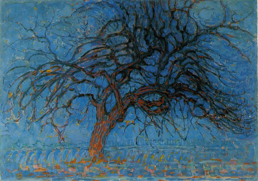 Mondrian Avond; Red Tree, 1908 Oil on canvas Haags Gemeentemuseum, The Hague