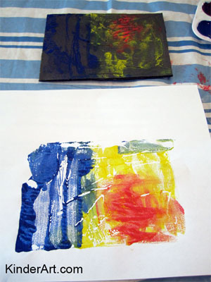 Monoprinting on foam