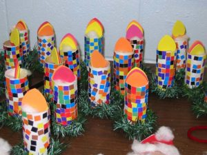 Mosaic Candle Craft. KinderArt.com