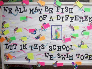We All Swim Together Bulletin Board