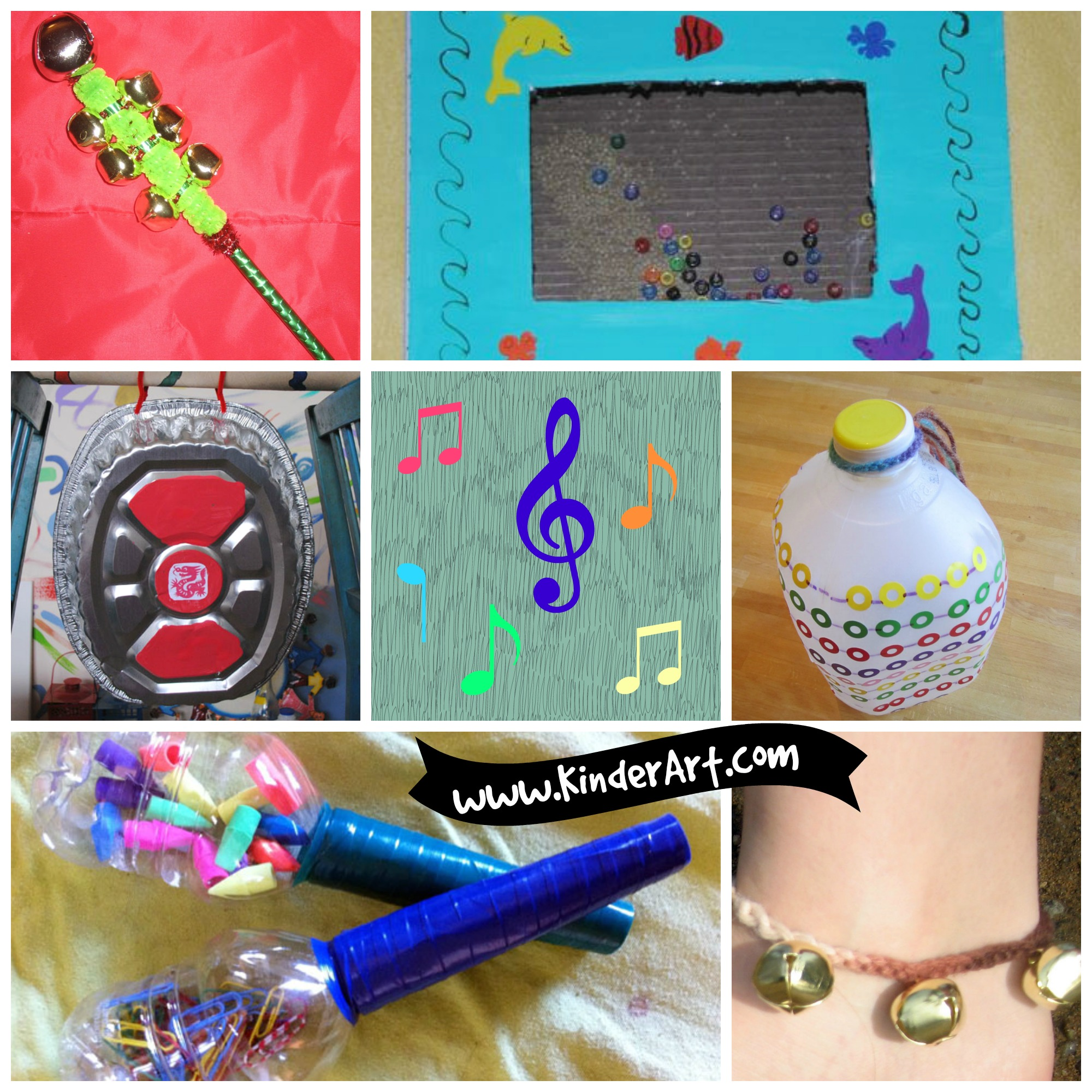 Craft Ideas For Kids-musical Instruments Part - 18: 25 Easy Musical Instruments To Make. KinderArt.com