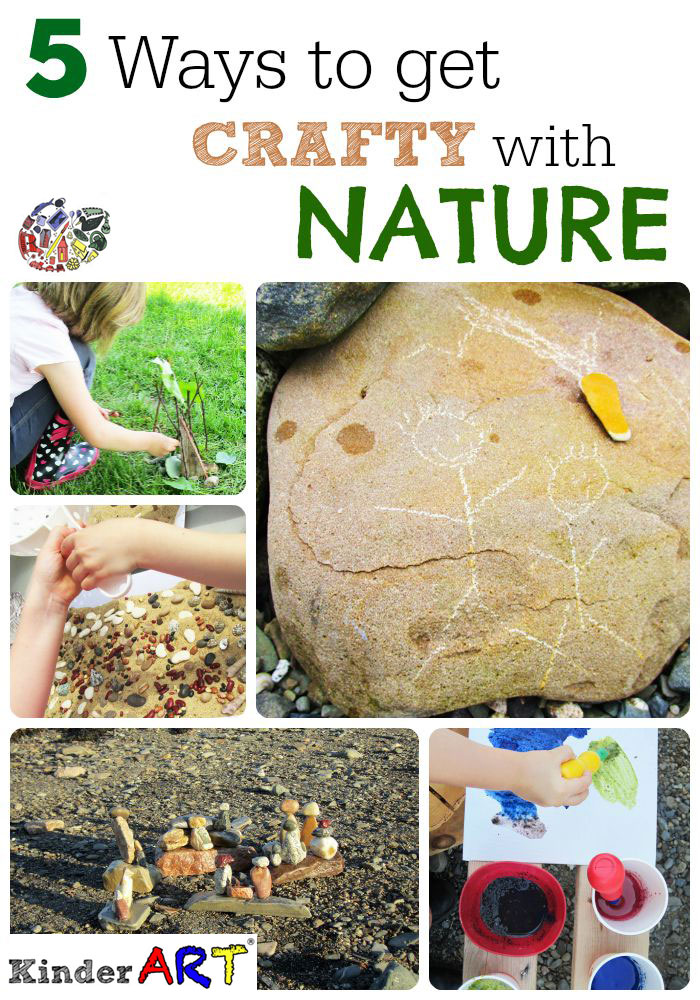 Nature Based art activities for kids from KinderArt.com