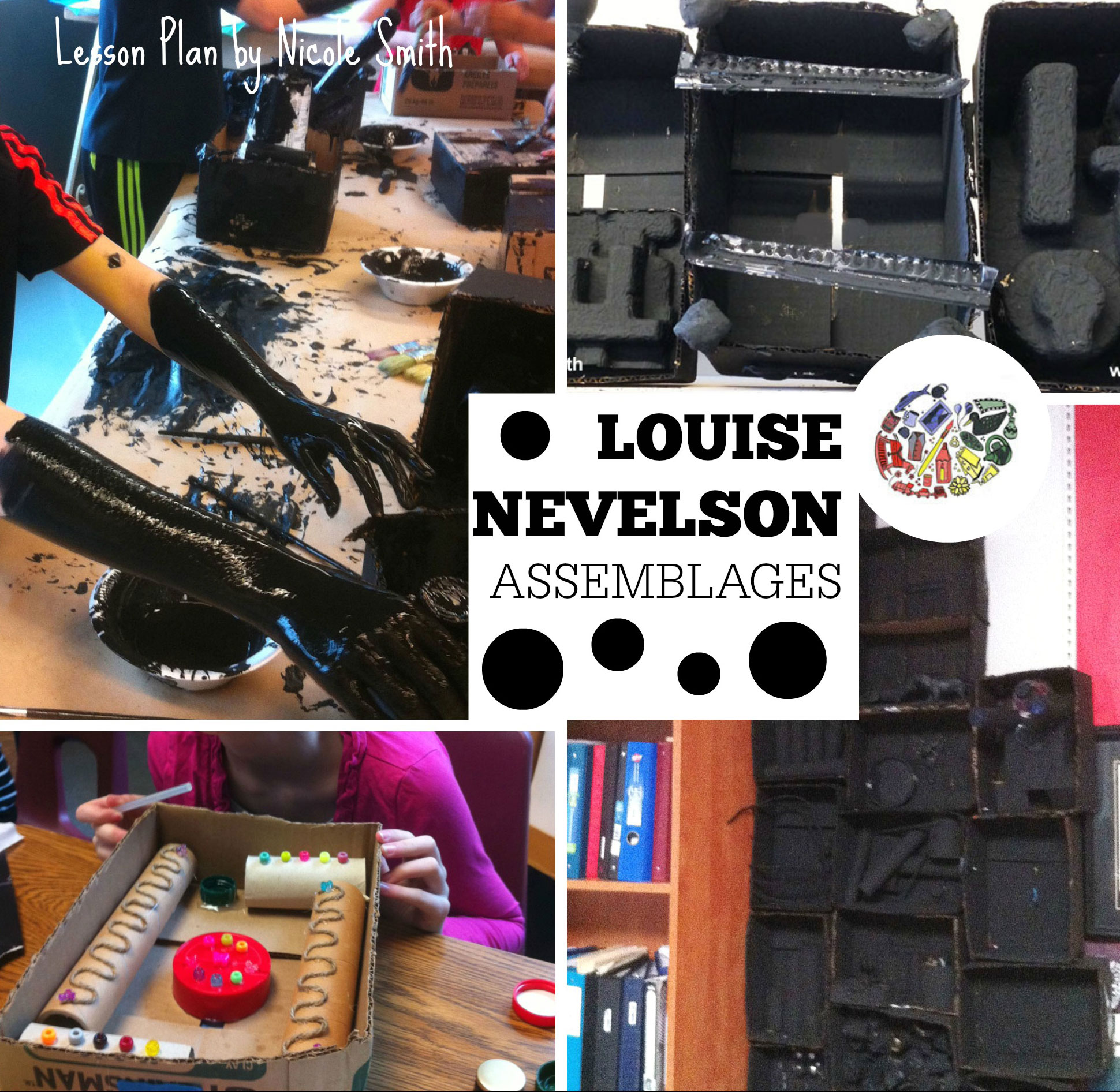Louise Nevelson collage art lesson