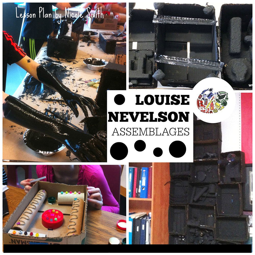 Make assemblages in the style of Louise Nevelson.