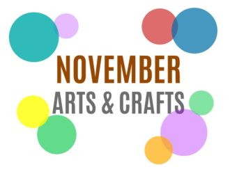 November Arts, Crafts and Activities for Kids from KinderArt.com