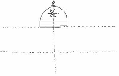 Draw a horizontal line to close up the rainbow shape.