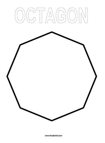 Octagon Coloring Page Kinderart