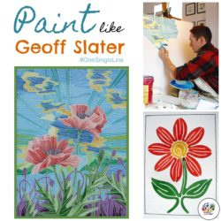 Paint like Geoff Slater single line painting.