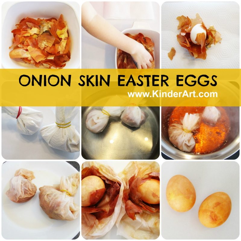 Make Onion Skin Eggs with KinderArt.com