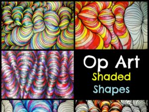 Op Art Shaded Shapes Lesson Plan. KinderArt.com