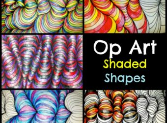 Op Art Shaded Shapes Lesson Plan. KinderArt.com