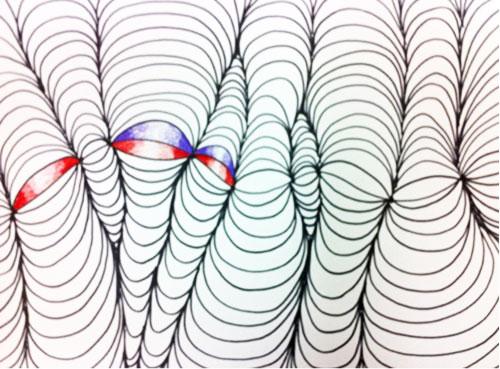Op Art Shaded Shapes - Step 6. KinderArt.com
