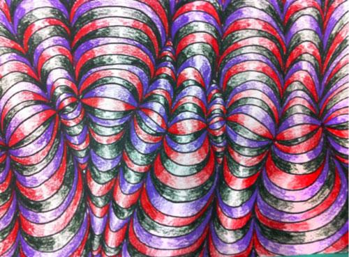Op Art Shaded Shapes - Step 7. KinderArt.com