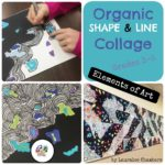 Organic Shape and Line Collage
