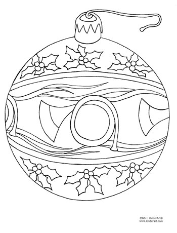 Christmas ornament coloring page kinderart for Stelle da colorare