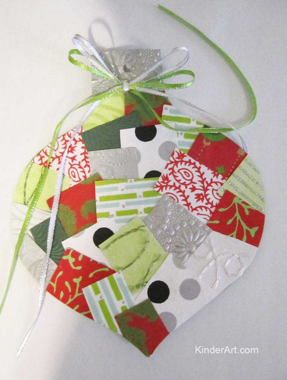 Paper Ornament Collage. KinderArt.com