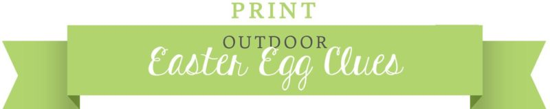Outdoor Clues. Create your own Easter Egg Scavenger Hunt. KinderArt.com.