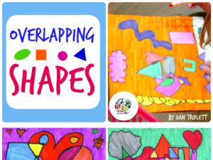 Overlapping Shapes Art Lesson Plan KinderArt.com