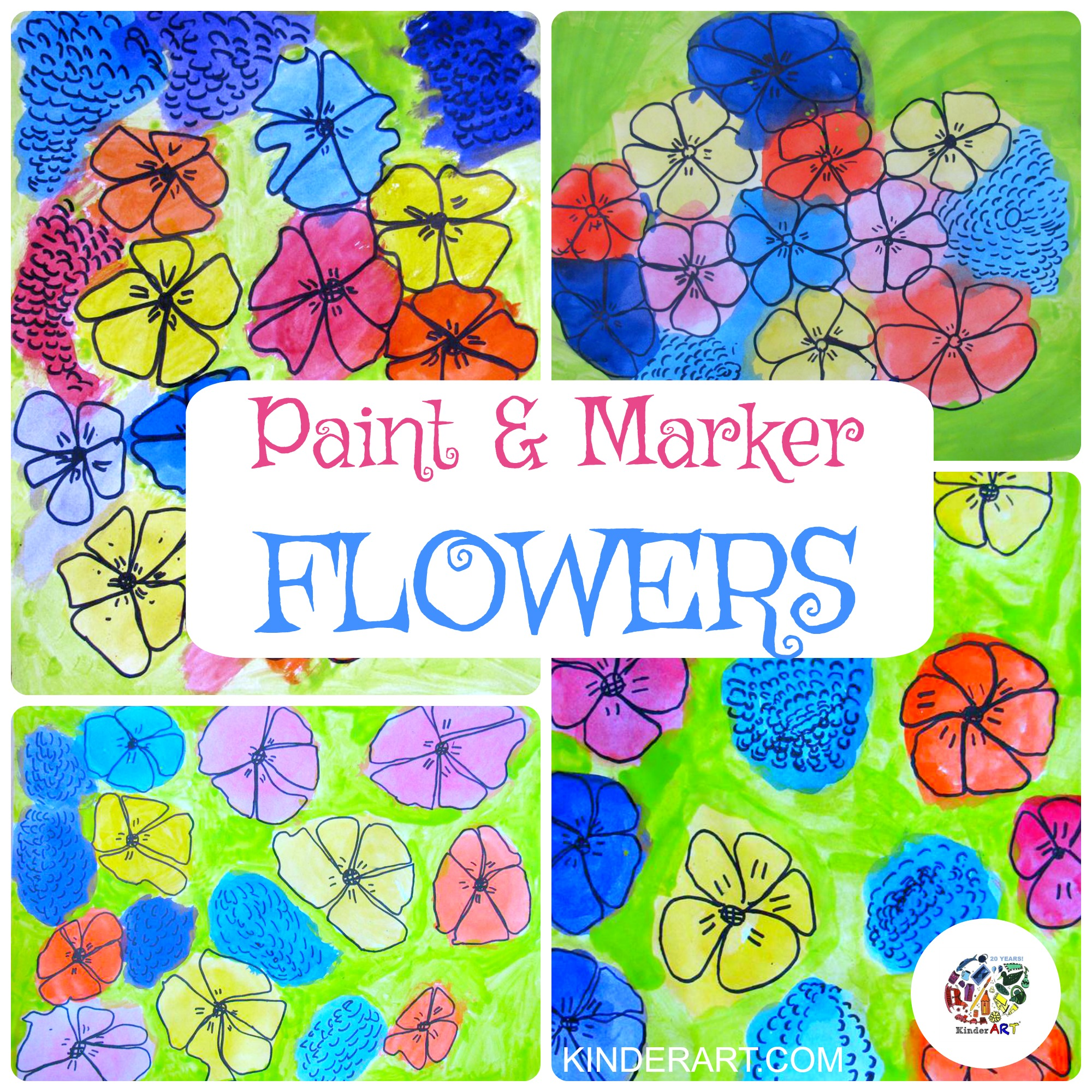 Paint and Marker Flowers