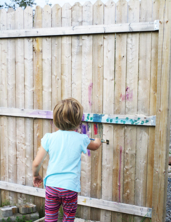 Paint a fence.