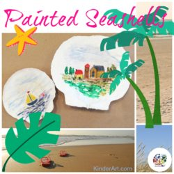 Paint pictures on seashells. KinderArt.com.