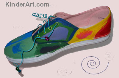 Painted Shoes.