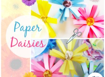 If you've got paper, you can make these beautiful paper daisies. KinderArt.com kids arts and crafts.