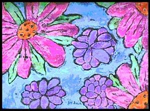 Paper batik flowers.