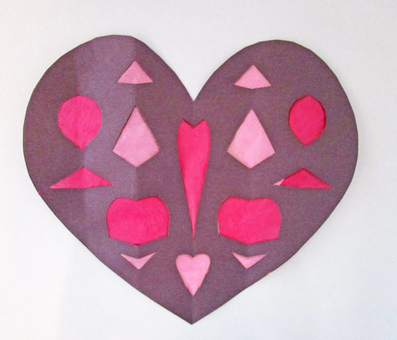 Paper hearts version two for older kids.