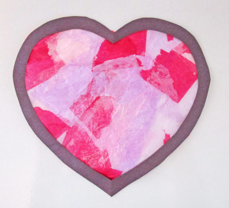 Faux Stained Glass Hearts Lesson Plan. KinderArt.com